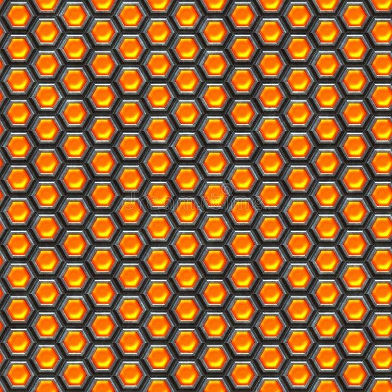 Oranje cellen. De achtergrond van het metaal. vector illustratie
