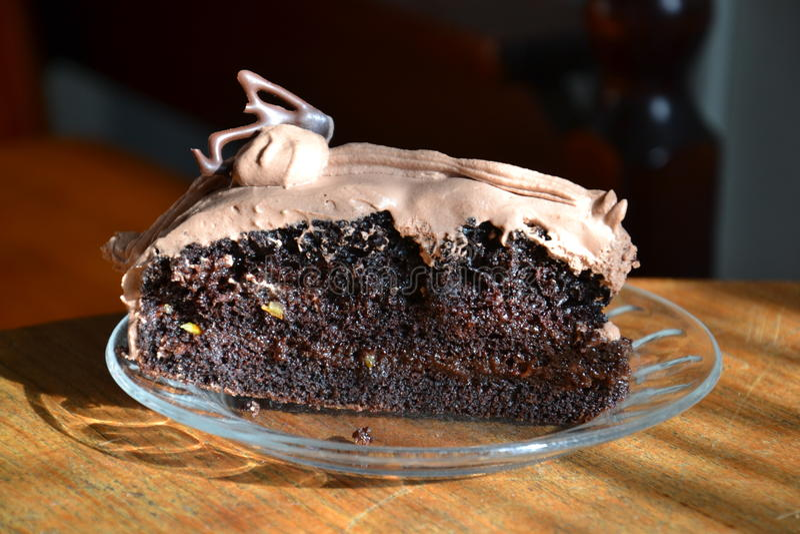 Oranje-chocoladecake stock fotografie