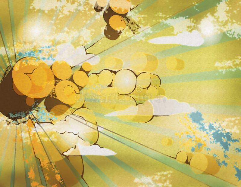 Oranje cirkels stock afbeeldingen
