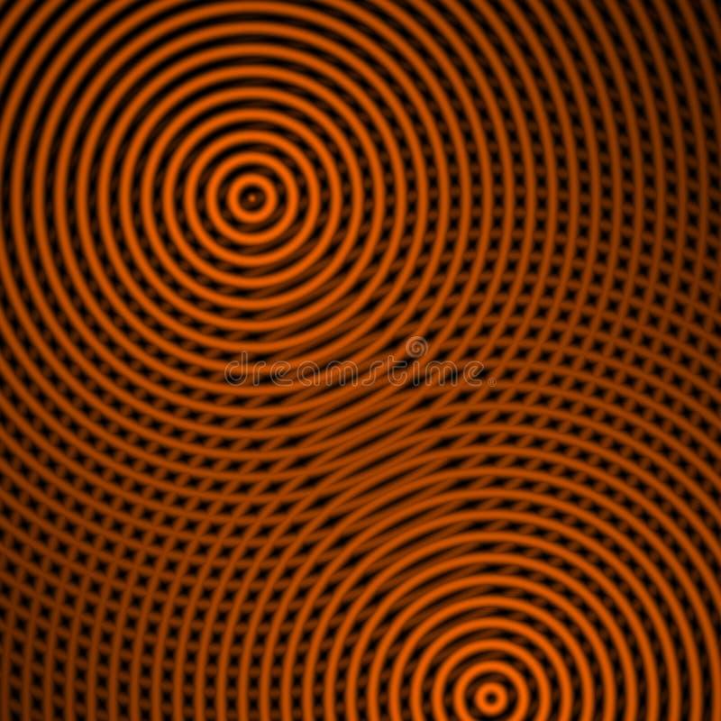Oranje cirkelvormen, abstracte achtergrond vector illustratie