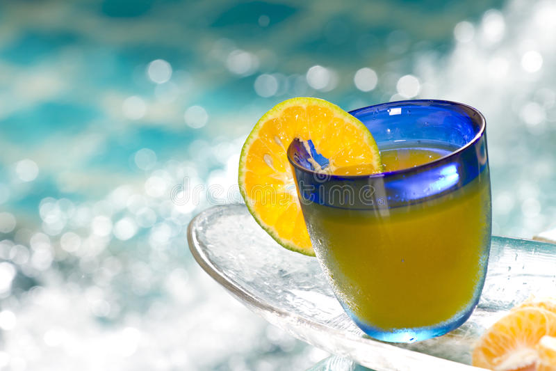Oranje cocktail stock foto