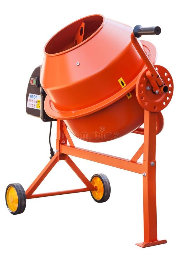 Oranje Concrete mixer stock foto's
