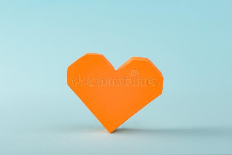 Oranje 3D document hart stock afbeelding
