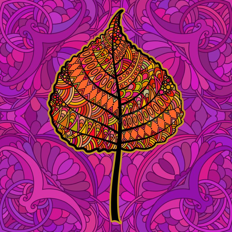 Oranje decoratief blad royalty-vrije illustratie