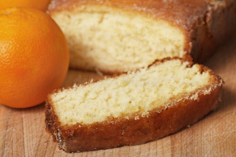 Oranje dessertbrood royalty-vrije stock afbeelding