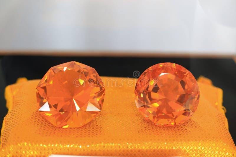 Oranje diamant stock fotografie