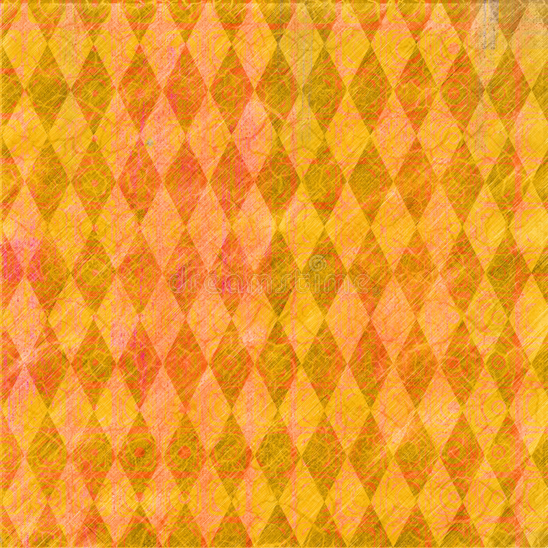 Oranje diamantrug vector illustratie