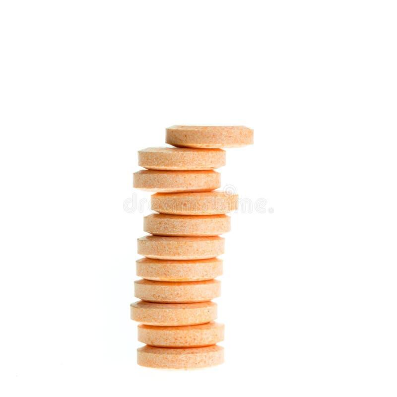 Oranje die ruiten op wit worden geïsoleerd stock afbeelding