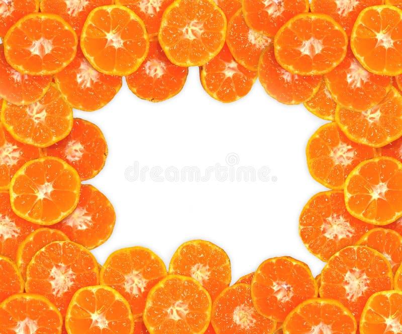 Oranje die textuur, op witte achtergrond wordt geïsoleerd stock fotografie
