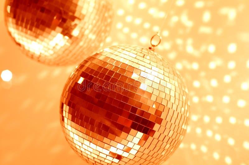 Oranje discobollen royalty-vrije stock afbeelding