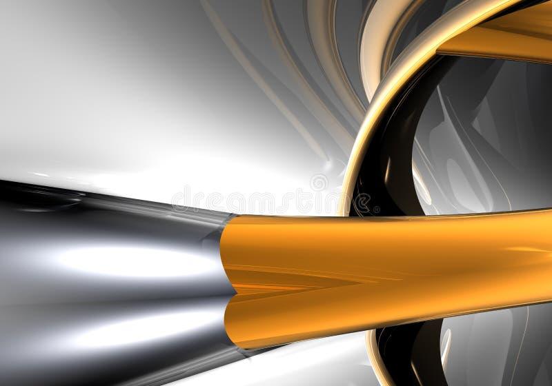 Oranje draad 01 stock illustratie