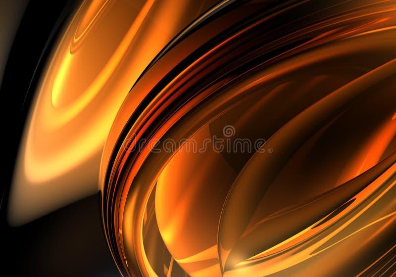 Oranje draad 02 vector illustratie
