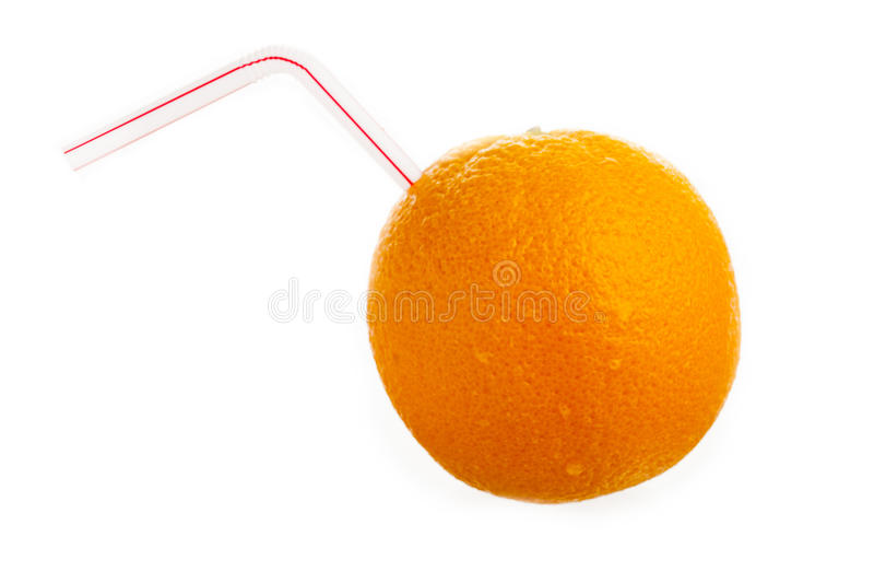 Oranje drank stock afbeelding