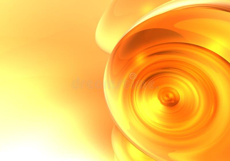Oranje Droom 01 vector illustratie