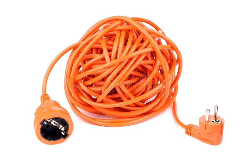 Oranje elektriciteit royalty-vrije stock afbeelding