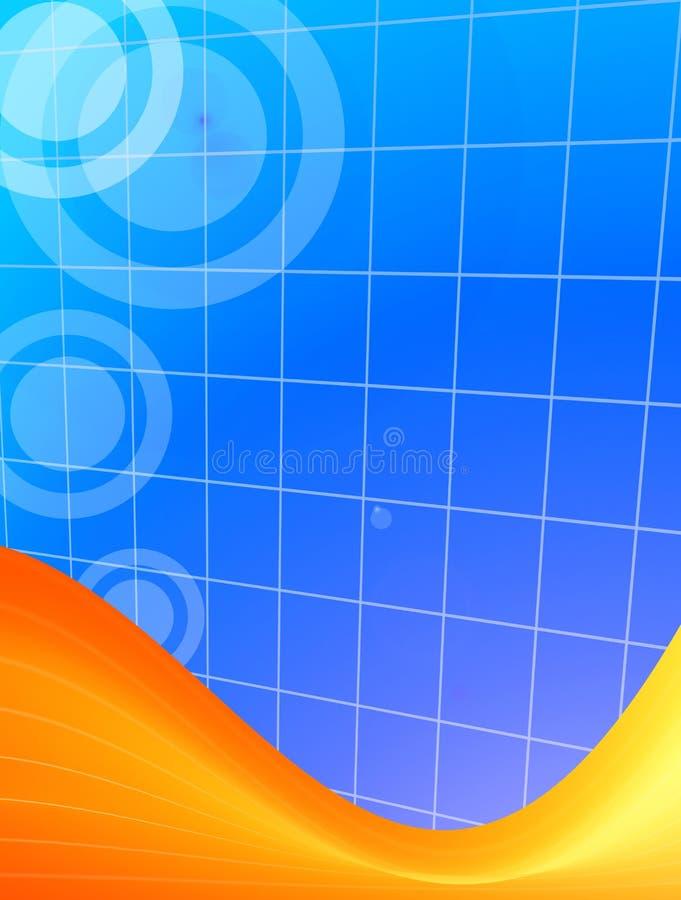 Oranje en blauwe achtergrond royalty-vrije illustratie