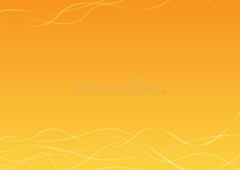 Oranje en Gele Achtergrond royalty-vrije illustratie