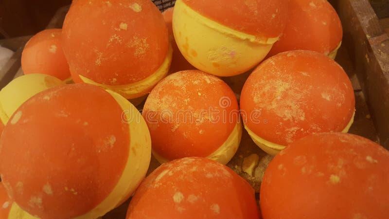 Oranje en gele ballen royalty-vrije stock afbeelding
