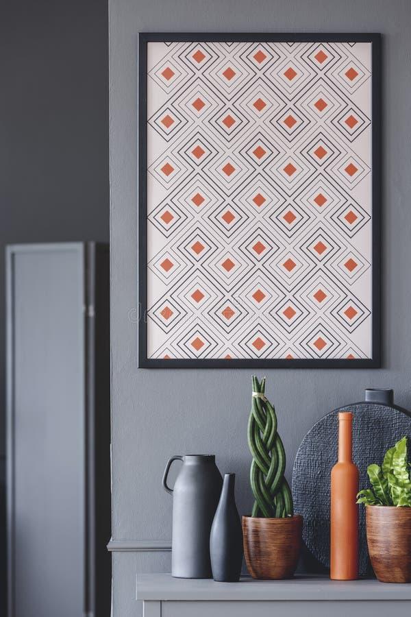 Oranje en grijze open plek royalty-vrije stock foto