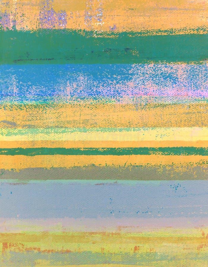 Oranje en Groen Abstract Art Painting royalty-vrije stock afbeelding