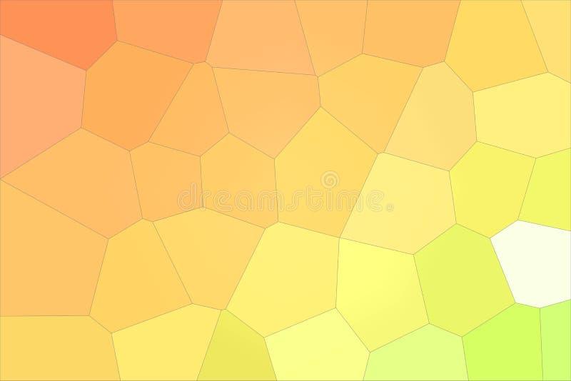 Oranje en groene kleurrijke Reuze Hexagon illustratie als achtergrond royalty-vrije illustratie