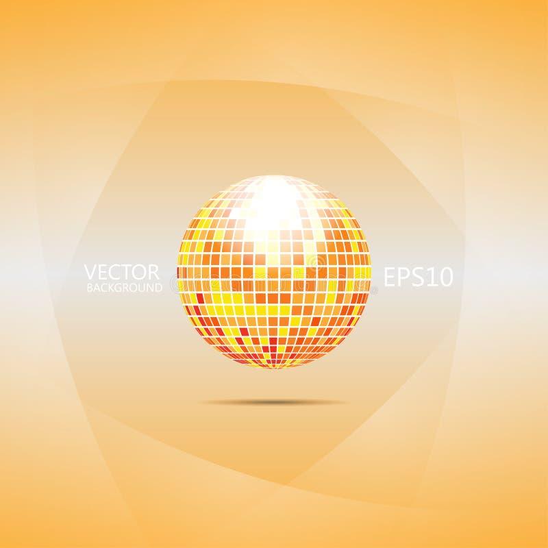 Oranje en rode discobal stock illustratie