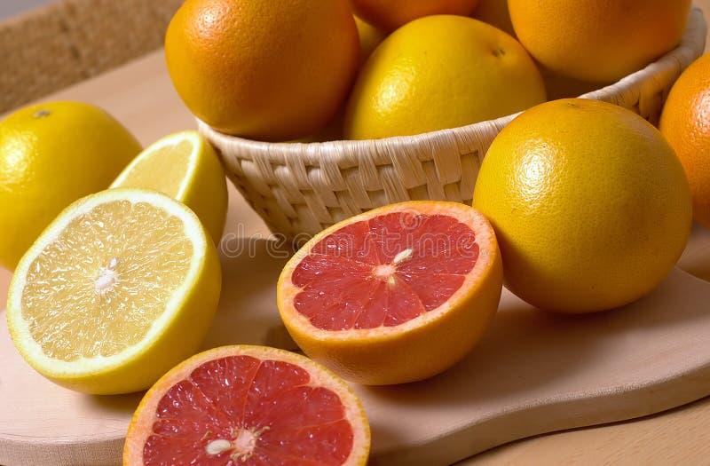 Oranje en rood oranje fruit royalty-vrije stock fotografie