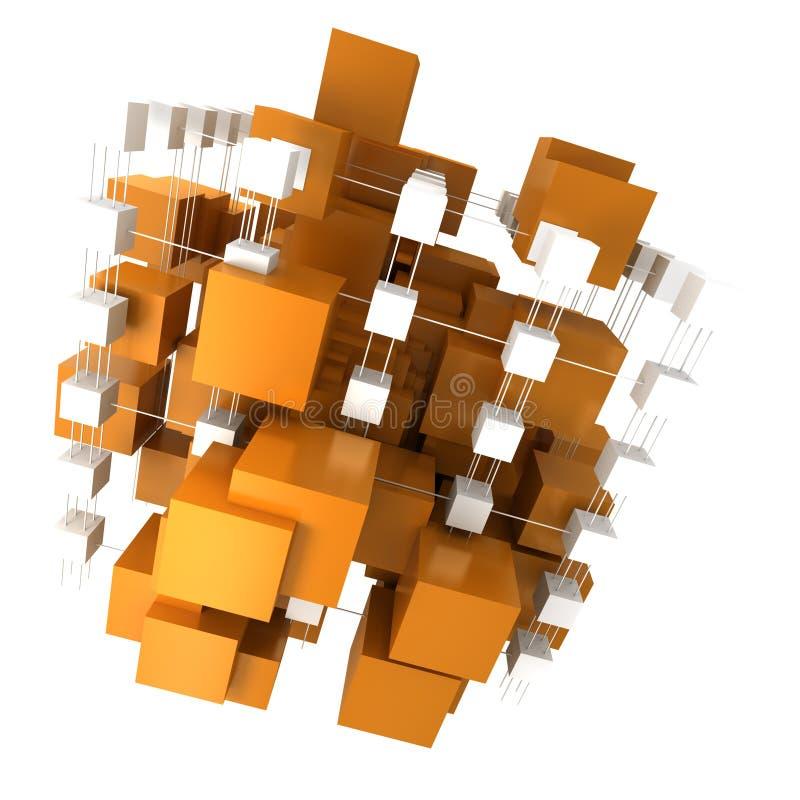 Oranje en witte abstracte structuur vector illustratie