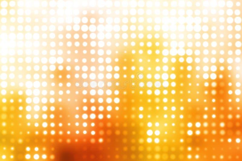 Oranje en Witte Gloeiende Futuristische Achtergrond royalty-vrije illustratie