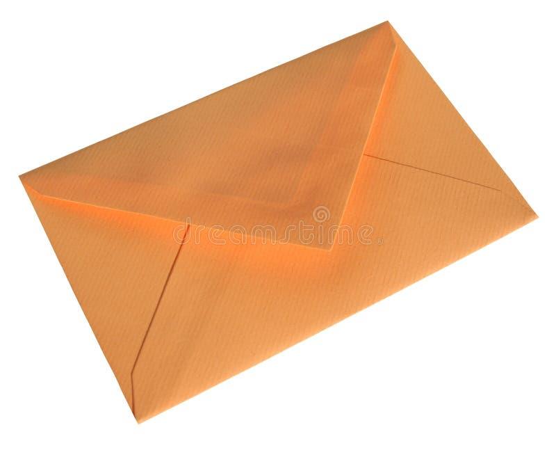 Oranje envelop stock afbeeldingen