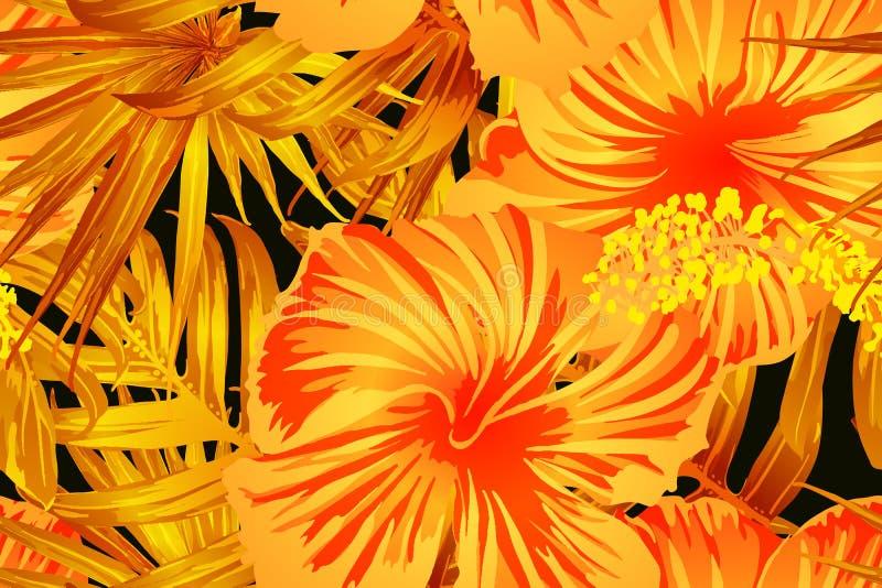 Oranje exotisch patroon vector illustratie