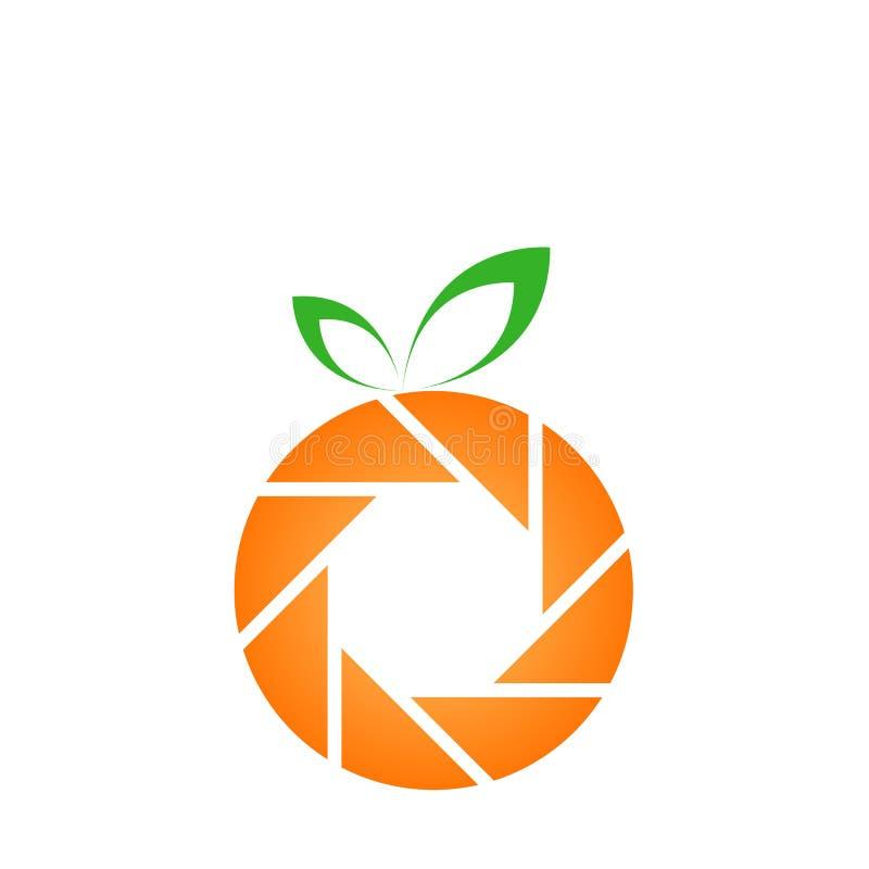 Oranje fotografieembleem stock illustratie