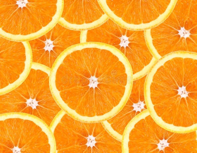 Oranje fruitachtergrond stock fotografie