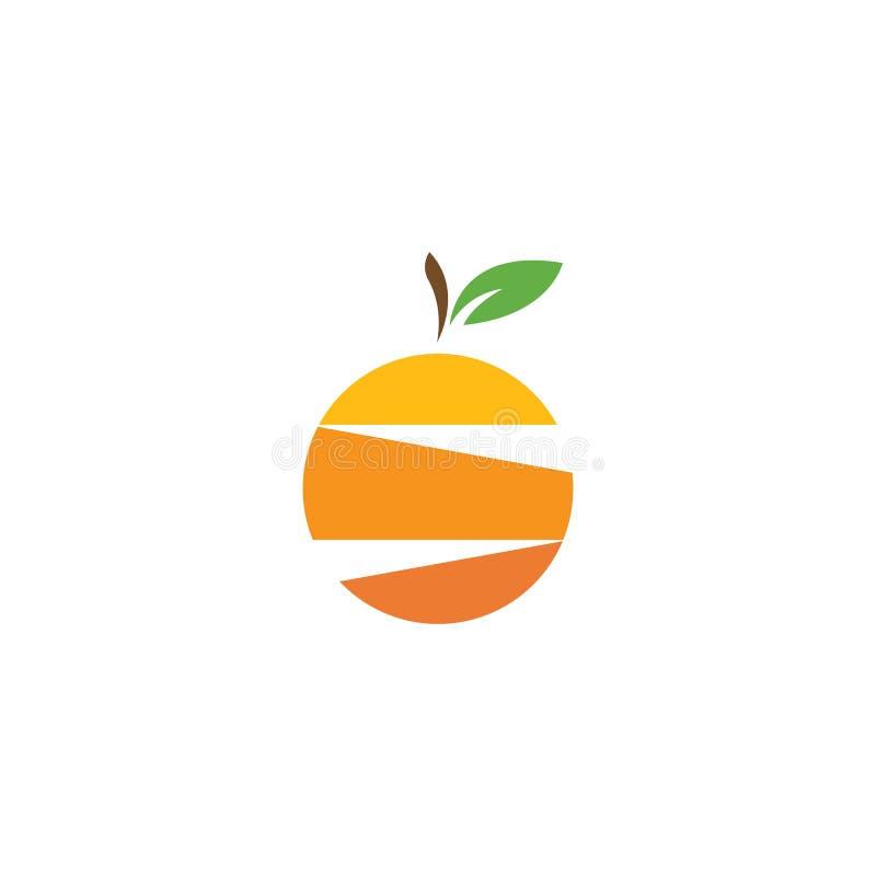 oranje fruitembleem royalty-vrije illustratie