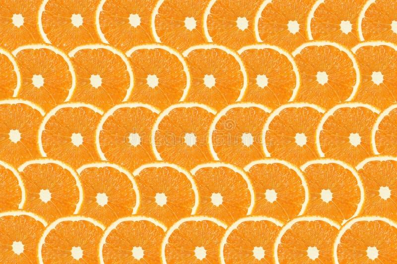 Oranje fruts snijden abstracte naadloze patroonachtergrond royalty-vrije stock foto's