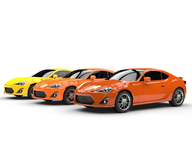 Oranje generische sportwagens vector illustratie
