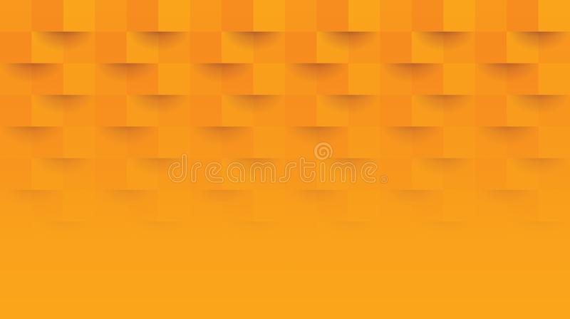 Oranje geometrisch patroon, abstract malplaatje als achtergrond vector illustratie
