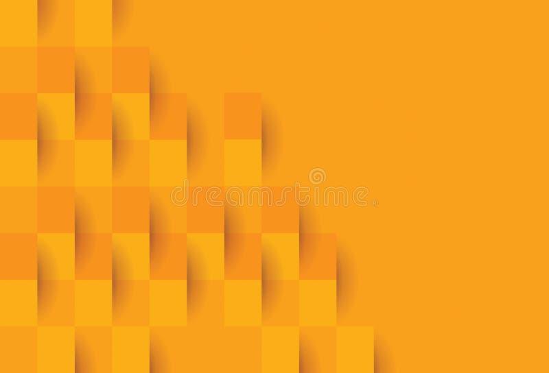 Oranje geometrisch patroon, abstract malplaatje als achtergrond royalty-vrije illustratie