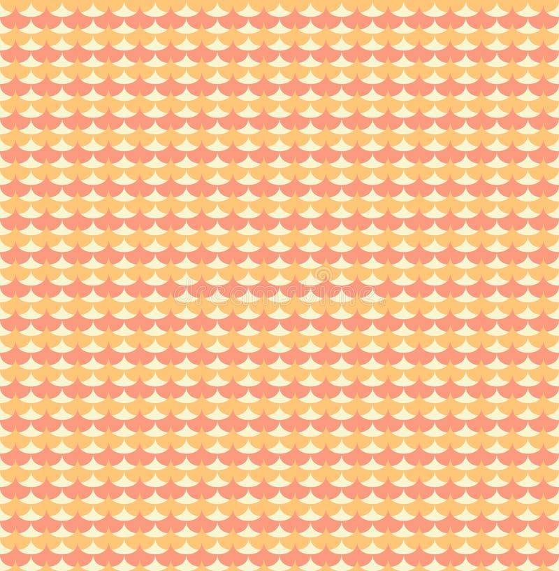Oranje ginkgobiloba verlaat naadloos patroon vector illustratie