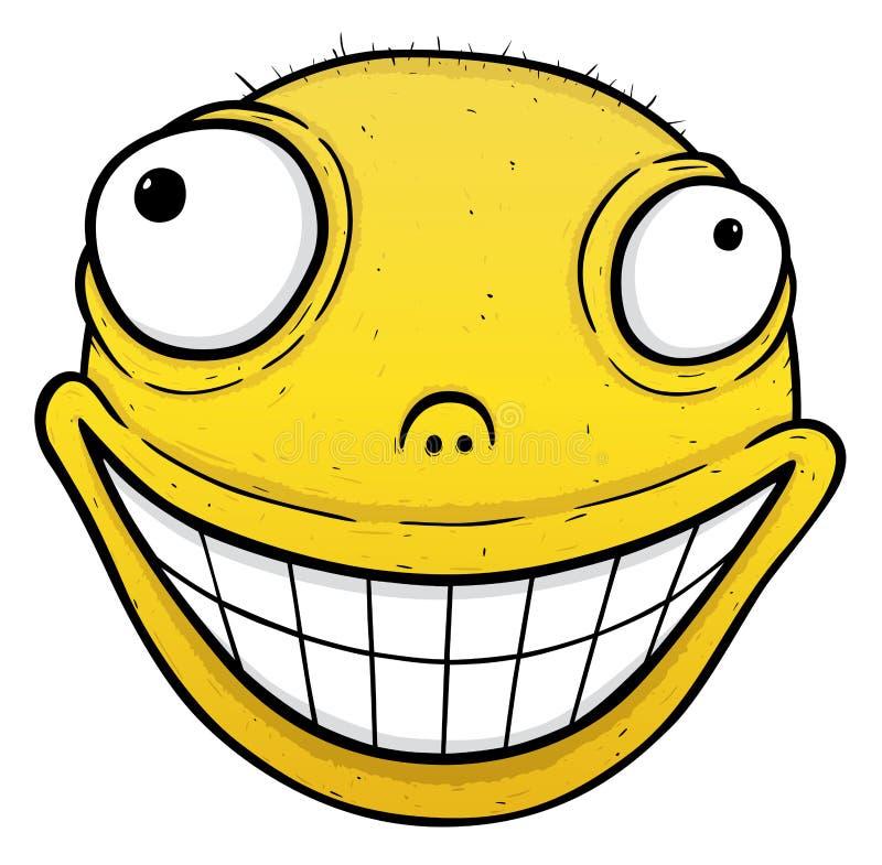 Oranje glimlach vector illustratie