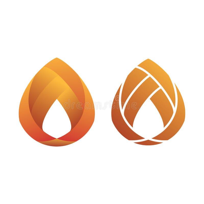 Oranje Gradiënt Modern Vlak Embleem stock illustratie