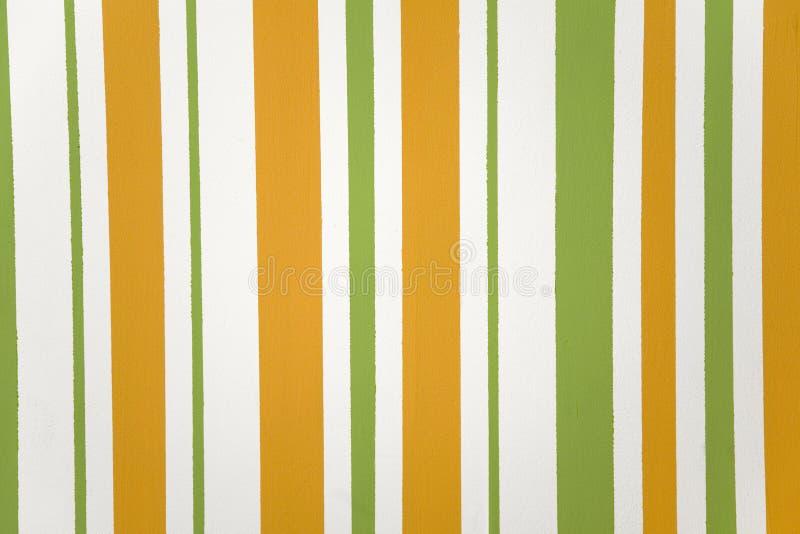 Oranje, groene verticale gestreepte textuur stock afbeeldingen