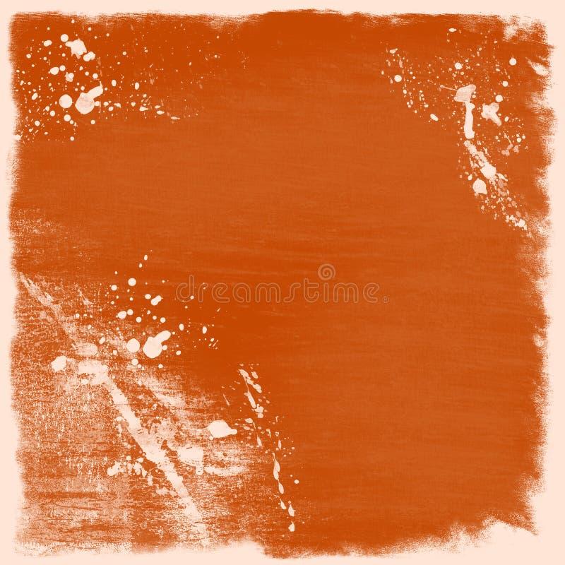 Oranje grungeachtergrond stock illustratie