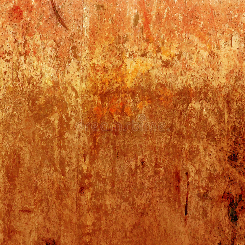Oranje grungeachtergrond Vector roestige textuur royalty-vrije illustratie