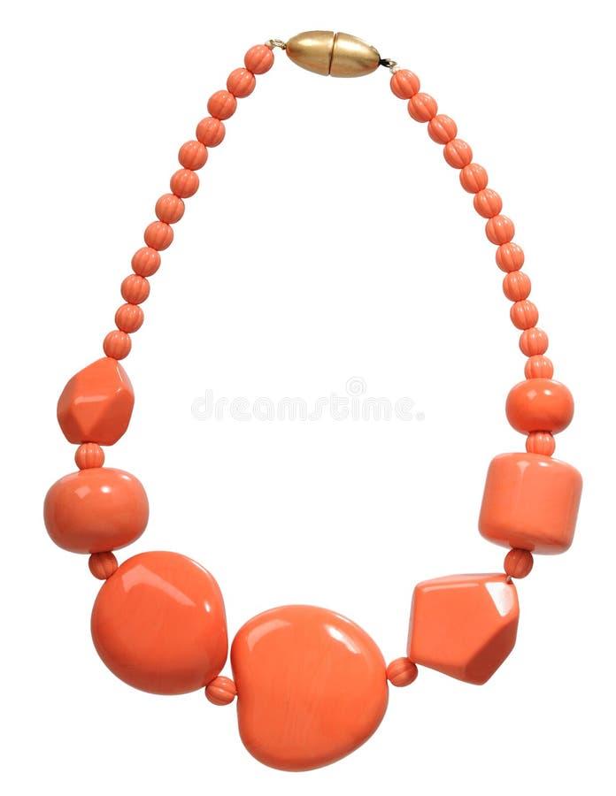 Oranje halsband royalty-vrije stock foto's