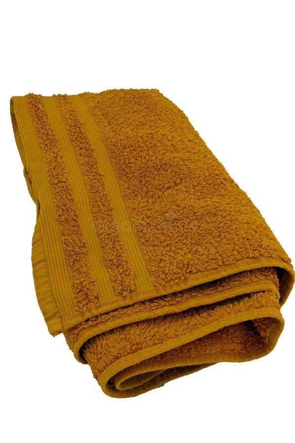 Oranje handdoek stock fotografie