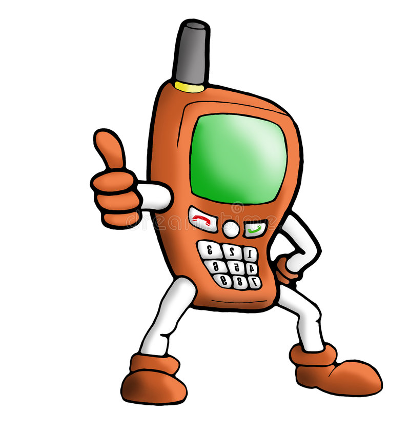 Oranje handphone van de illustratie stock illustratie