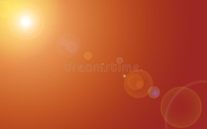 Oranje Hemel stock illustratie
