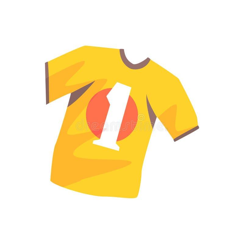 Oranje het beeldverhaal vectorillustratie van het voetbaloverhemd vector illustratie