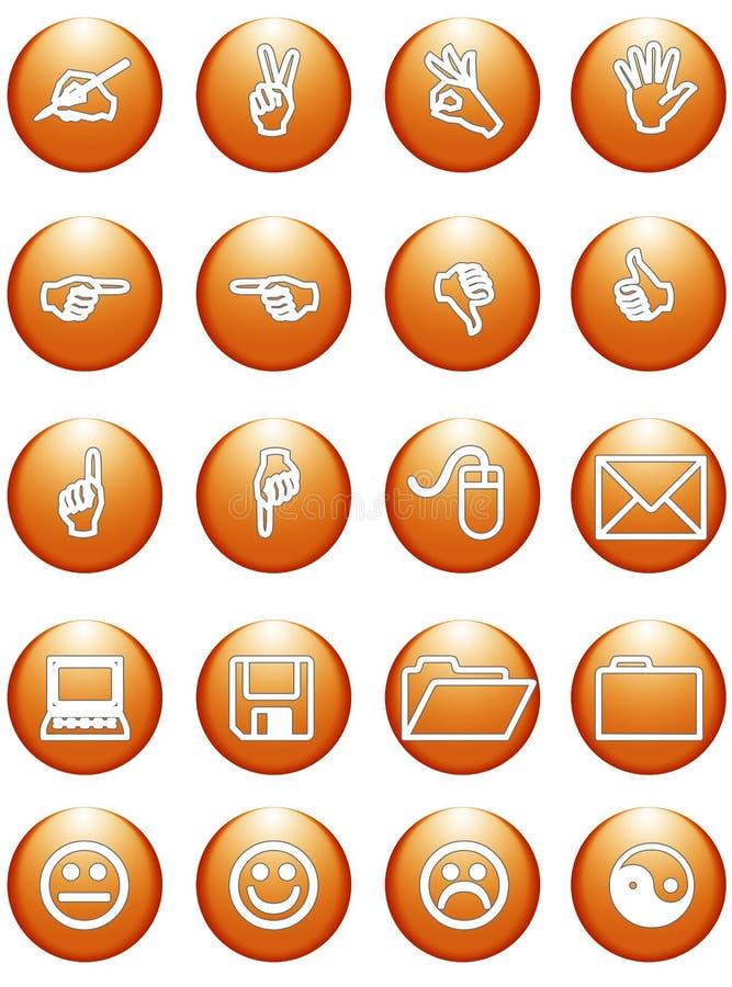 Oranje het bureautekens van het Web stock illustratie